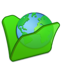 folder, green, internet