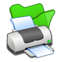 folder, green, printer icon