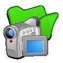 folder, green, videos