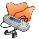 folder, mymusic, orange icon