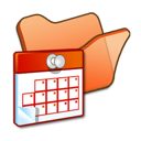 folder, orange, scheduled, tasks icon