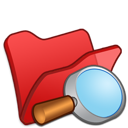 explorer, folder, red icon
