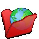 folder, internet, red