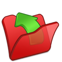 folder, parent, red icon