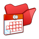 folder, red, scheduled, tasks icon