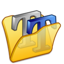 folder, font, yellow icon