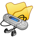 folder, mymusic, yellow icon