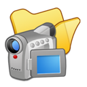 folder, videos, yellow icon
