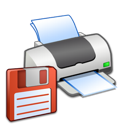 floppy, printer icon