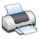 on, printer icon