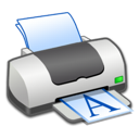 portrait, printer icon