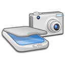 &, camera, scanner icon
