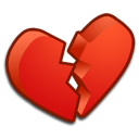 broken, heart icon