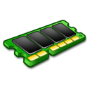 green, memory, microchip, ram icon