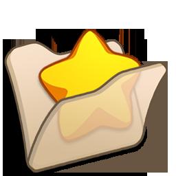 beige, favourite, folder icon