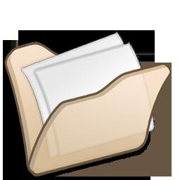 beige, folder, mydocuments icon