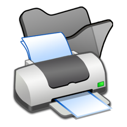 folder, printer icon