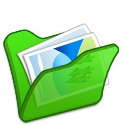 Folder, green, mypictures icon - Free download on Iconfinder
