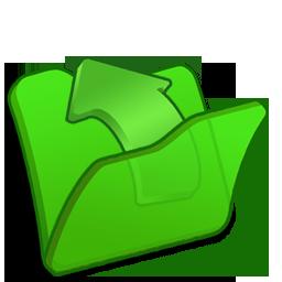 folder, green, parent icon