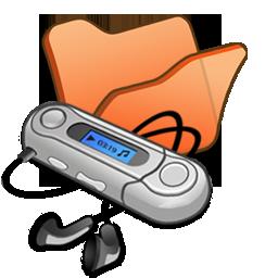 folder, mymusic, orange icon