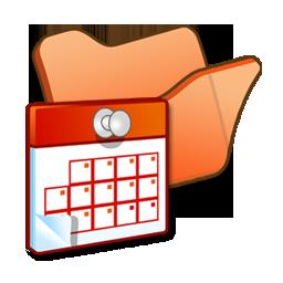 folder, orange, scheduled, tasks icon