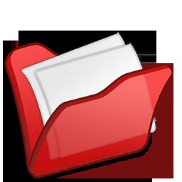 folder, mydocuments, red icon