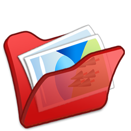 folder, mypictures, red icon