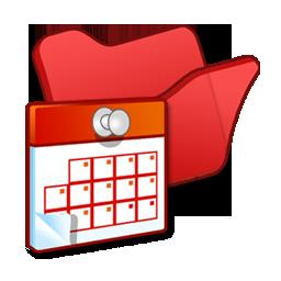 folder, red, scheduled, tasks icon