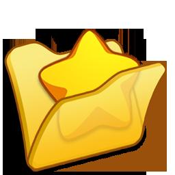 favourite, folder, yellow icon