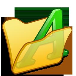 folder, font, yellow icon