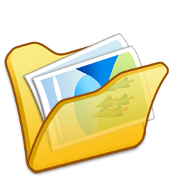 folder, mypictures, yellow icon