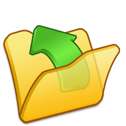 folder, parent, yellow icon
