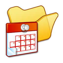 folder, scheduled, tasks, yellow icon
