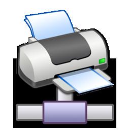 network, printer icon