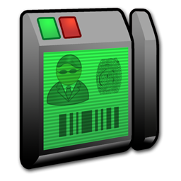 card, reader, security icon
