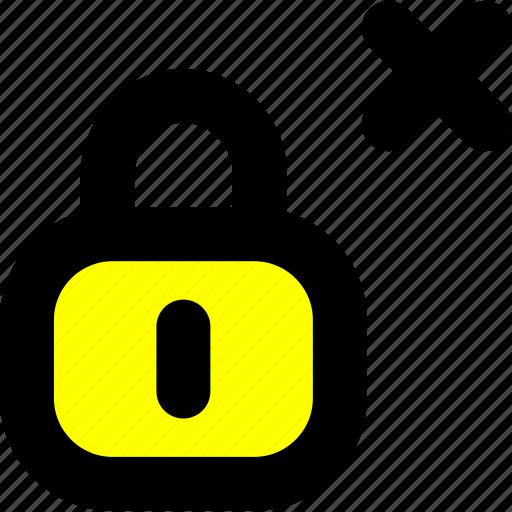 cancel password, cancel protection, invalid, invalid password, password icon