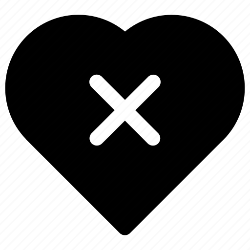 danger, dislike, heart, heart break, risk icon