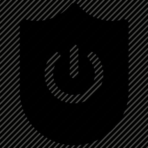 antivirus, power, scurity, shield, turn on icon