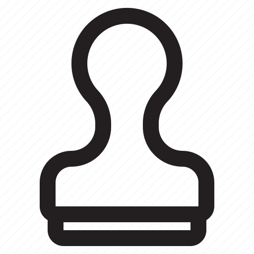 pion, stamp, watermark icon
