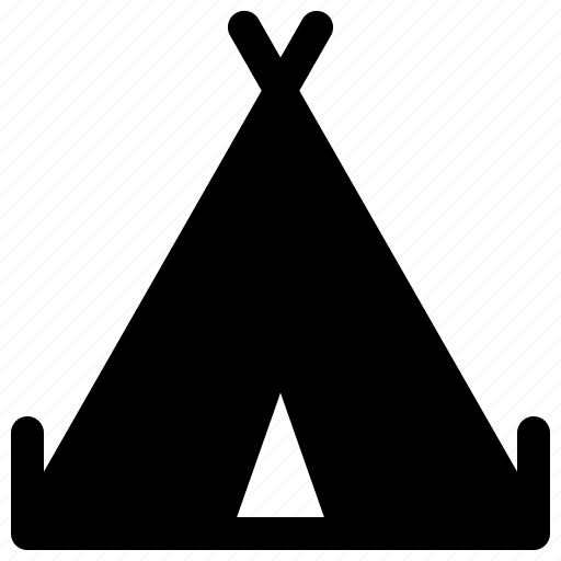 camp, holiday, hood, tent, travel icon