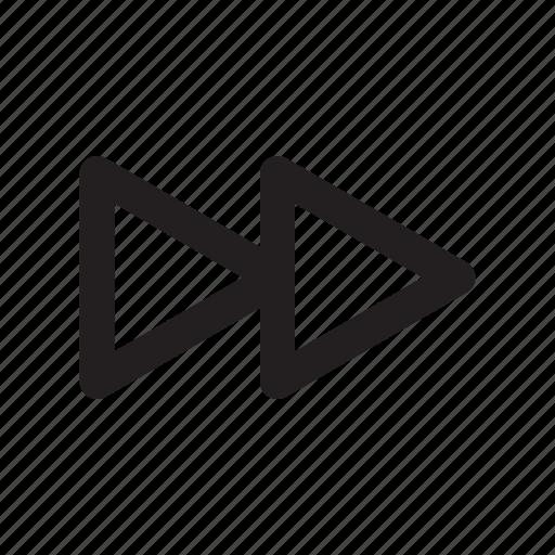 arrow, chapter, forward, move, next, right icon