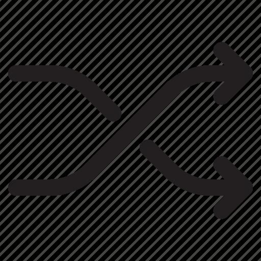 arrows, navigation, random, shuffle icon