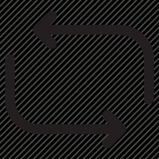 arrow, arrows, loop, reload, repeat icon