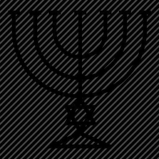 candle, candles, hanukkah, judaism, magen, menorah icon