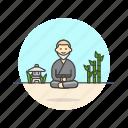 meditation, monk, religion, zen, health, man, temple