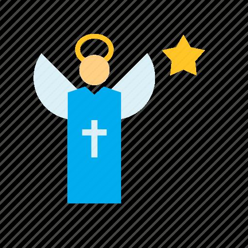 Angel, catholic, christian, christianity, religion, religious, spiritual icon - Download on Iconfinder