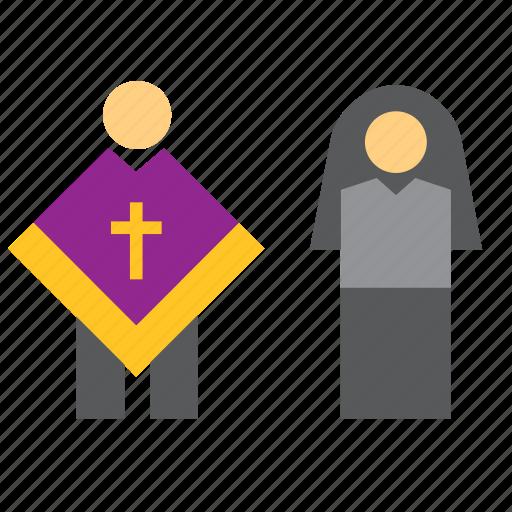 Catholic, nun, pastor, people, priest, religion, religious icon - Download on Iconfinder