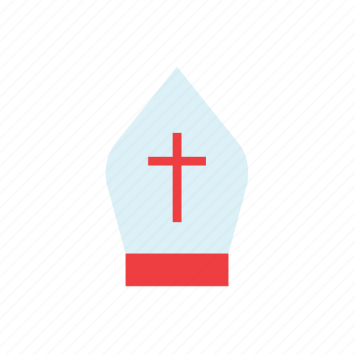 catholic, church, cross, hat, pope, religion, vatican icon