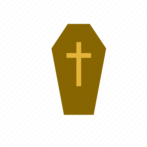 casket, catholic, coffin, cross, death, funeral, religion icon