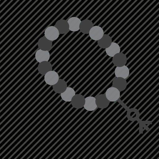 arab, beads, islam, muslim, necklace, prayer, religion icon